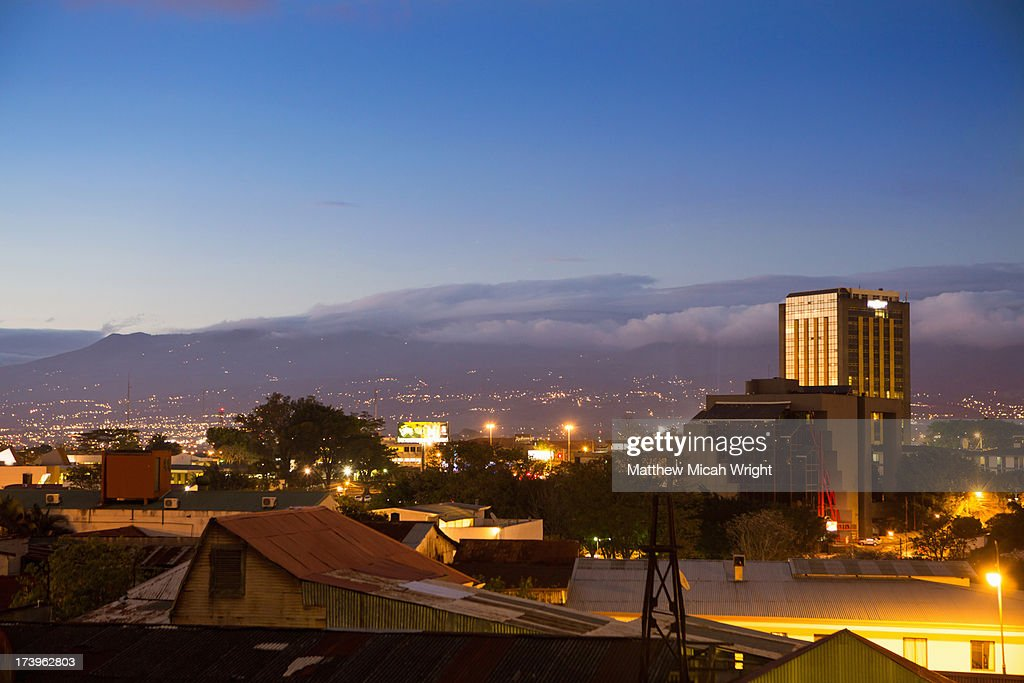 A view overlooking downtown San Jose : Stock Photo