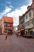 View Picturesque street in Colmar France