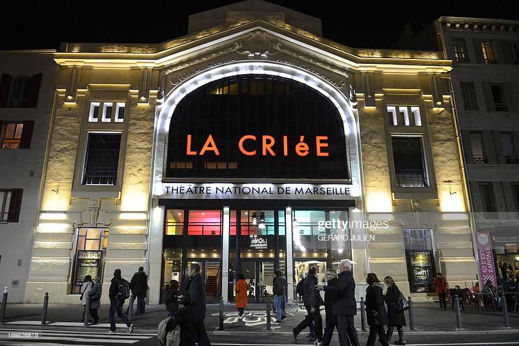 A view shows Le Theatre de la Criee (Auction Theater) at Rive Neuve dock in the Vieux Port (Hold harbour) in Marseille, southern France on January 12, 2013 as part of 'Marseille-Provence European Capital of Culture' in 2013.