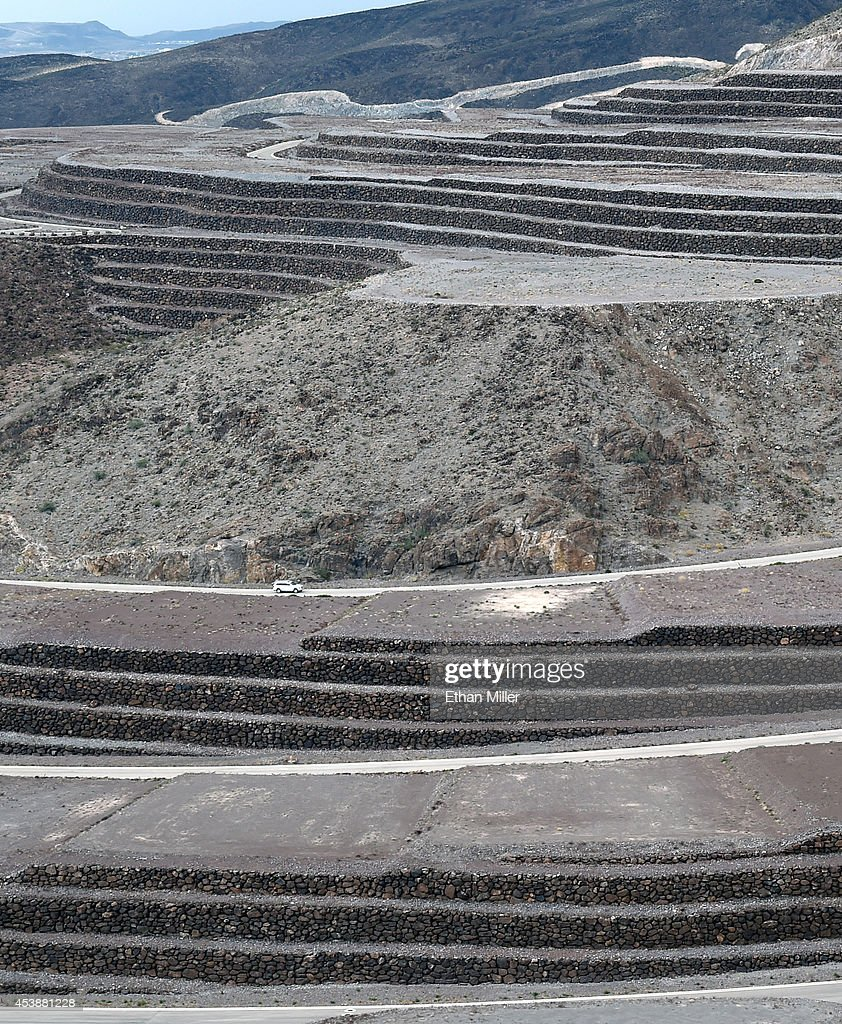 A view shows man-made stone terrain around some of the 313 luxury estate home sites nestled atop the McCullough Range at Ascaya, Nevada's premier luxury home development, on August 20, 2014 in Henderson, Nevada. Ascaya opened its sales center and began accepting reservations on Wednesday.