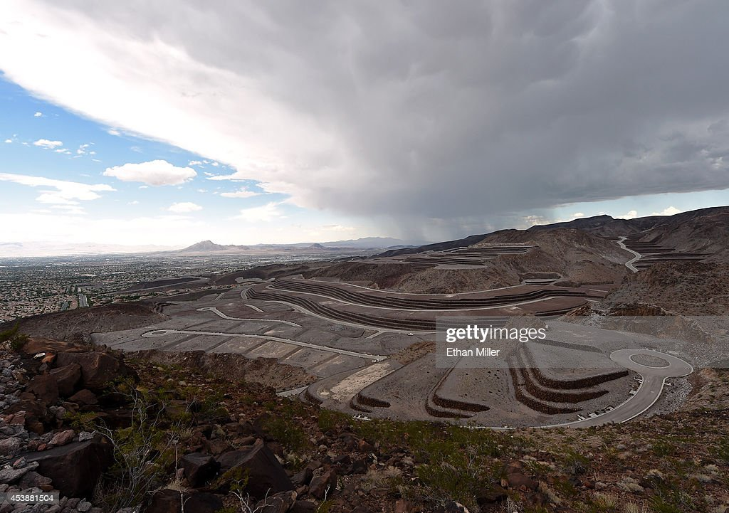 A view shows some of the 313 luxury estate home sites nestled atop the McCullough Range at Ascaya Nevada's premier luxury home development on August...