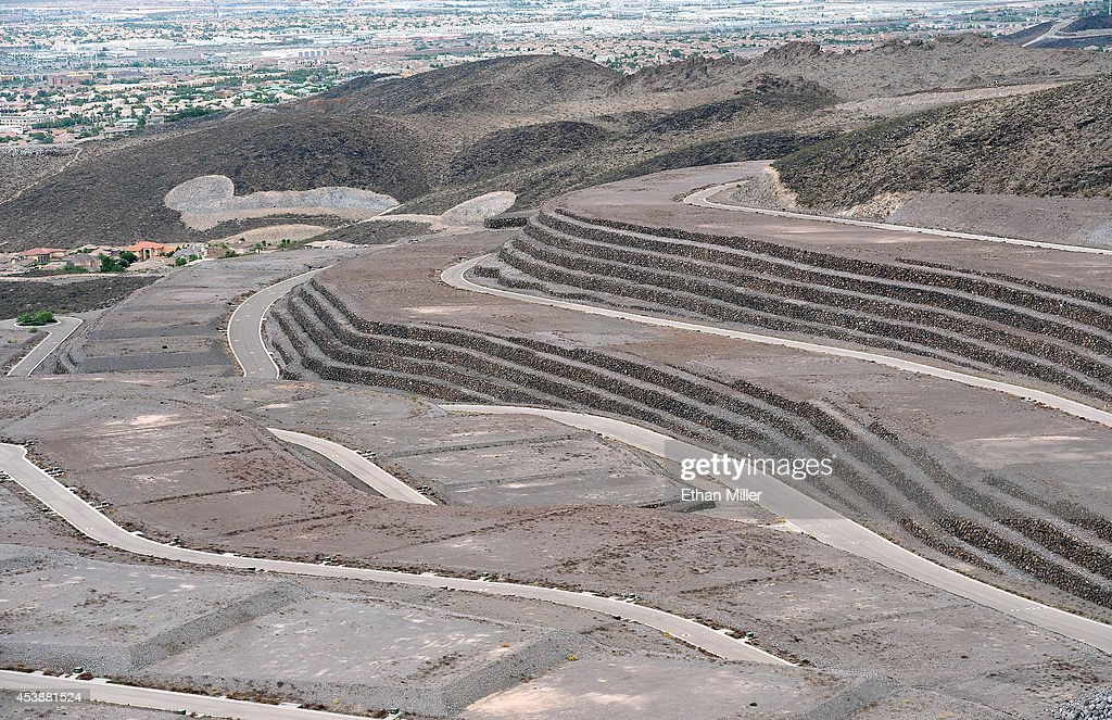 A view shows some of the 313 luxury estate home sites nestled atop the McCullough Range at Ascaya, Nevada's premier luxury home development, on August 20, 2014 in Henderson, Nevada. Ascaya opened its sales center and began accepting reservations on Wednesday.