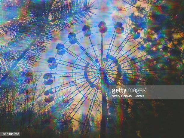 A view shows the amusement park in the Pripyat near the Chernobyl nuclear power plant in the Exclusion Zone Ukraine on April 5 2017 The Chernobyl...
