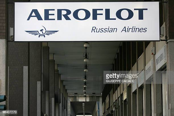 View taken 03 April 2007 of the Aeroflot headquarters in Milan Russian airline Aeroflot is a candidate to buy the Italian government's stake in the...