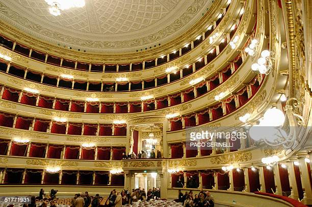 View taken 19 November 2004 of the balconies of the Milan's La Scala opera house The famous opera house is set to reopen its doors to the public on...