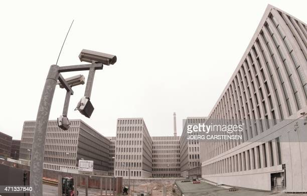 View taken on April 27 2015 shows the headquarters under construction of the German Intelligence Service in Berlin The German chancellor's office has...