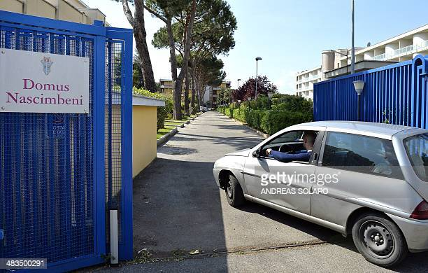 A view taken on April 9 2014 shows the main entrance of the Domus Nascimbeni in Rome A 16yearold Swiss boy died in Rome during a tragic game...