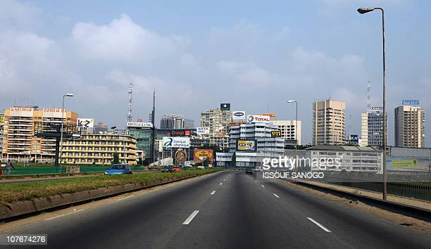 View taken on December 18 2010 shows an almost empty road leading to the Plateau neighbourood business district in central Abidjan A senior envoy...