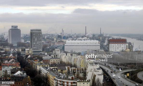View taken on December 19 2008 shows a panorama of the southwestern city of Ludwigshafen with the plant of German chemicals giant BASF seen in...