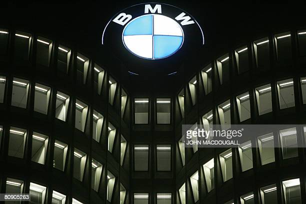 FILES View taken on February 20 2008 shows the BMW logo on top of the headquarters of German car manufacturer BMW in Munich The German luxury...