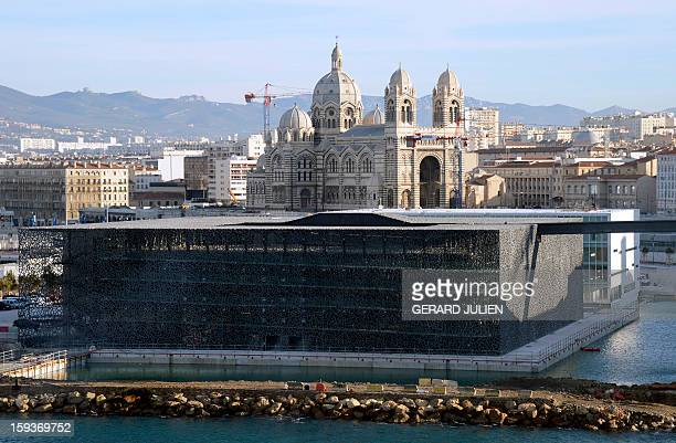 A view taken on January 12 2013 shows the new Museum of Civilizations from Europe and the Mediterranean designed by Italian architect Rudy Ricciotti...