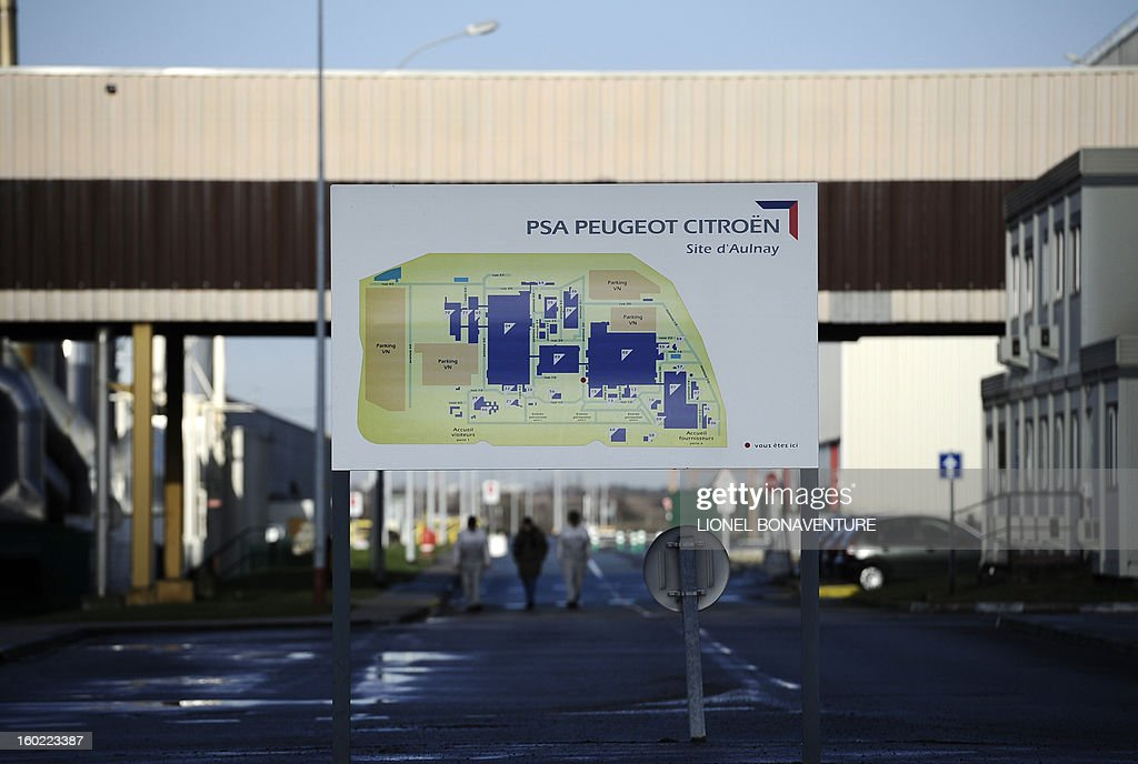 View taken on January 28, 2013 at the PSA Peugeot Citroen carmaker plant of Aulnay-sous-Bois, a Paris' suburb.