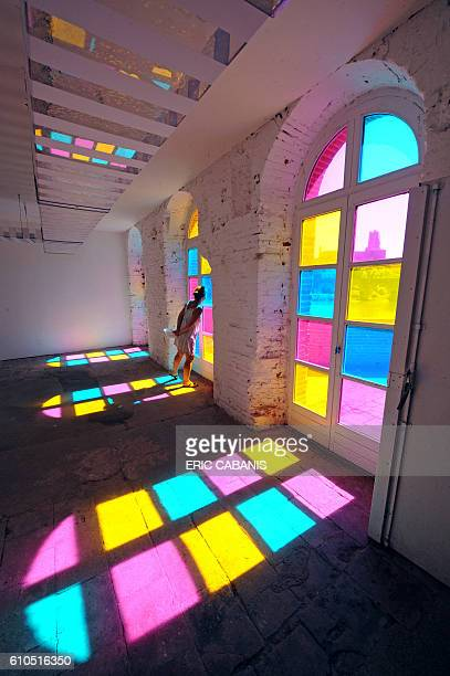 View taken on July 27 2008 of a room at the Moulins Albigeois in Albi southern France where is presented work by French painter and sculptor Daniel...