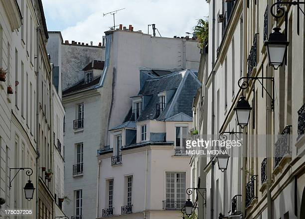 A view taken on July 29 2013 on a street of the Marais district in central Paris AFP PHOTO / MIGUEL MEDINA