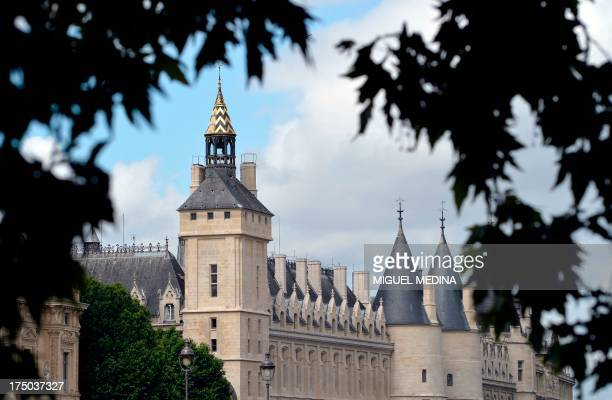 A view taken on July 29 2013 shows the Conciergerie palace in central Paris The conciergerie is the oldest remaining part of the Palais de la Cité...