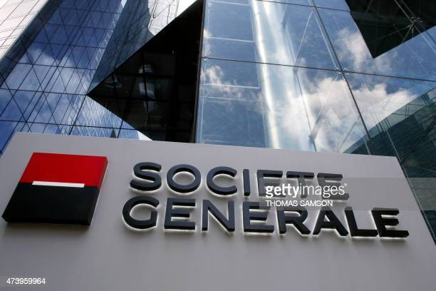 A view taken on May 19 2015 of French bank Societe Generale headquarters in Paris' financial district of La Defense Bosses at French banking giant...