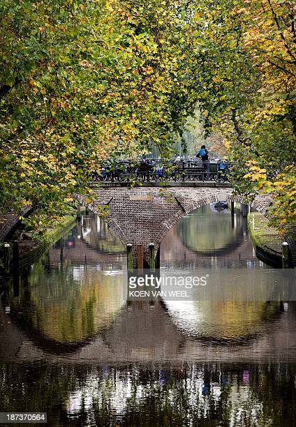 A view taken on November 8 2013 shows a canal in the historic Dutch city of Utrecht where the 2015 Tour de France cycling race will start organisers...