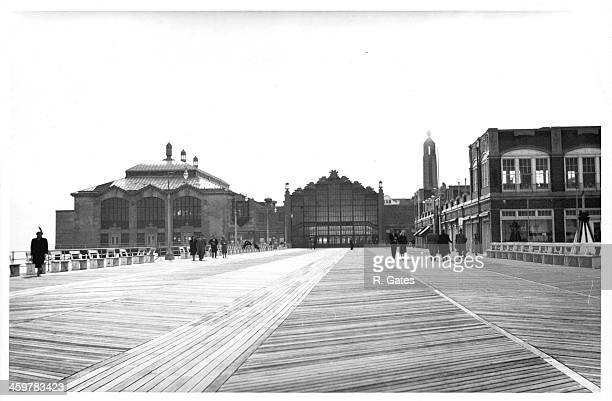 A view the Boardwalk in Asbury Park New Jersey Circa 1940