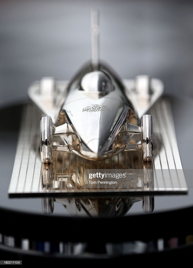 A view the Harley J. Earl Trophy during practice for the NASCAR Sprint Cup Series Daytona 500 at Daytona International Speedway on February 20, 2013 in Daytona Beach, Florida.