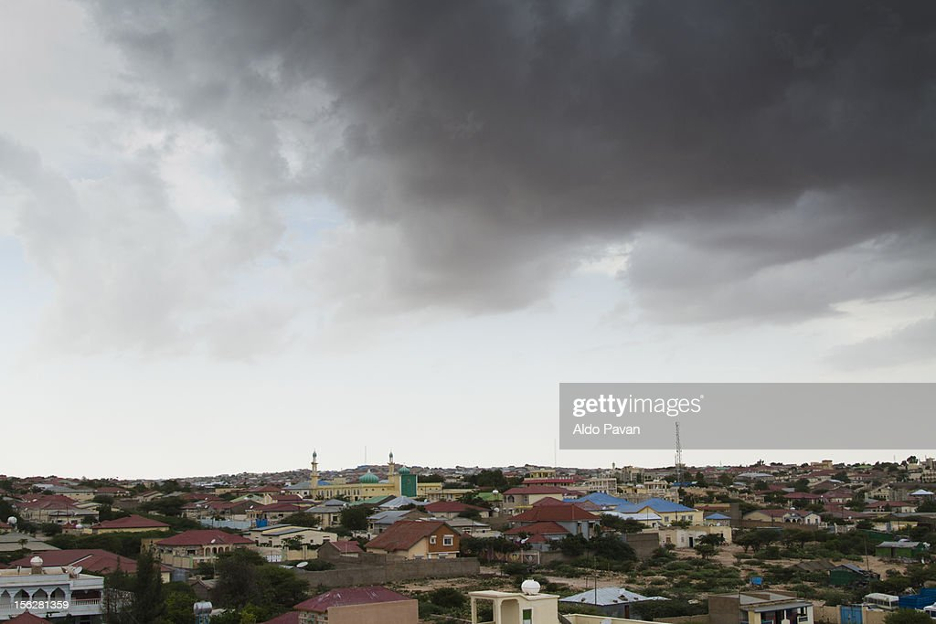 View the outskirts before the storm. : Stock Photo