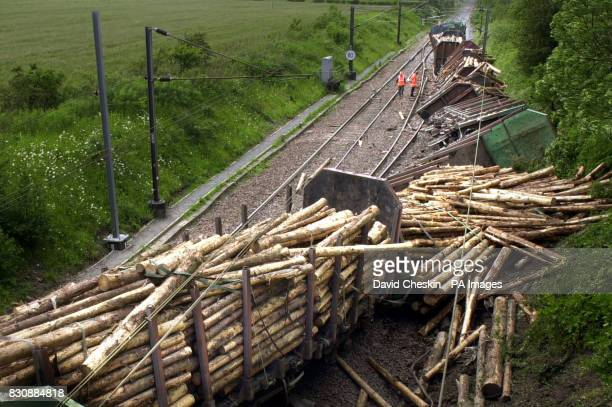 A view the railway line where a freight train derailed at Quintinshill between Gretna and Chapleknowe Dumfries and Galloway * The train carrying 14...