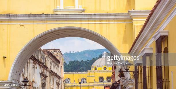 View through Arco de Santa Catalina (Santa Catalina Arch) Antigua Guatemala