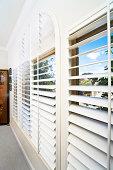 Window with blinds. Super wide 12mm lens on a FF sensor.