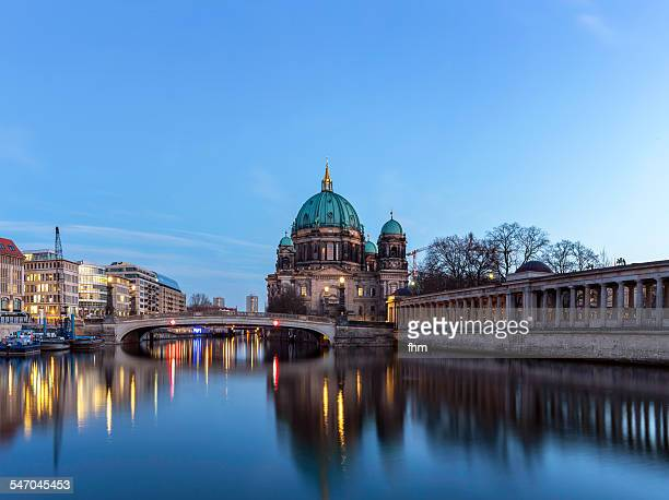 View to Berlin cathedral near Spree river