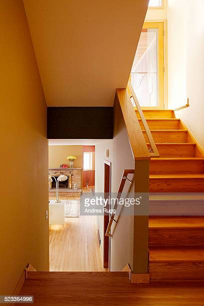 View to Living Room from Stairway Landing