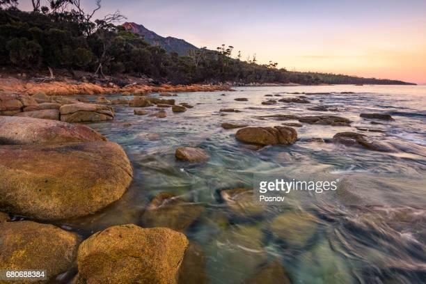 View to mt Freycinet from Hazards Beach, Tasmania