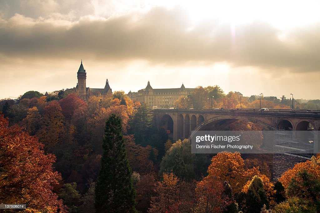 View to Pont Adolphe in Luxembourg