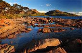 A view to the Hazards, Coles Bay, east coastline of Tasmania, Australia.