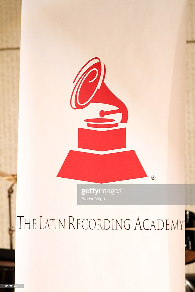 View to the Latin Recording Academy banner at Escuela Libre de Musica Ernesto Ramos Antonini on April 30, 2013 in Hato Rey, Puerto Rico.