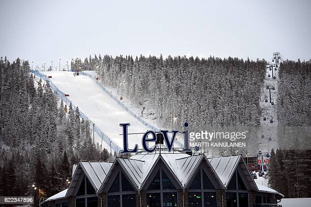 A view to the Levi Black slalom course on November 11 2016 in Kittila Finnish Lapland Levi hosts the season opening men's and women's World Cup...