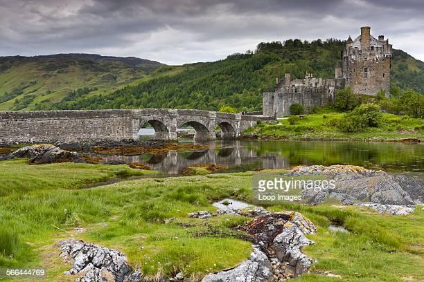 A view toward Eilean Donan castle and Loch Duich