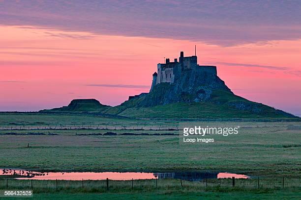 A view toward Lindisfarne castle