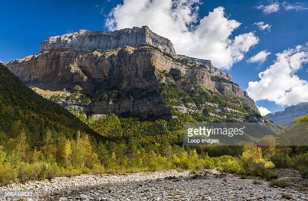 A view towards Punta Tobacor from Valle de Ordesa in the Parque Nacional de Ordesa y Monte Perdido