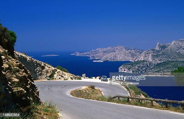 View towards the Calanques from Corniche des Cretes, Bouches-du-Rhone region.