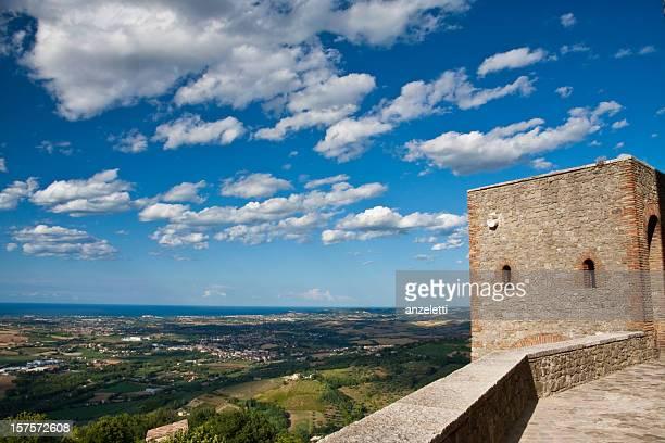 View towards the coastline of Rimini, Emilia Romagna