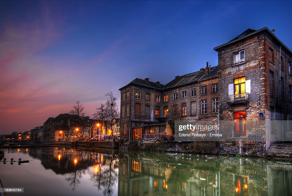View towards the fish market, Mechelen