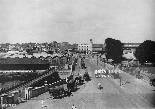 View Towards the Pettah or Native Quarter Colombo Showing Khan Clock Tower' c1890 From The Hundred Best Views of Ceylon [Plâté Ltd Colombo Kandy...