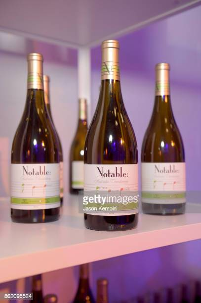 A view wine bottles on display at VH1 Save The Music 20th Anniversary Gala at SIR Stage37 on October 16 2017 in New York City