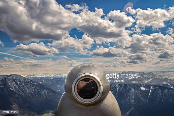Viewer in Wendelstein Mountain in Bayrischzell, Bavaria, Germany
