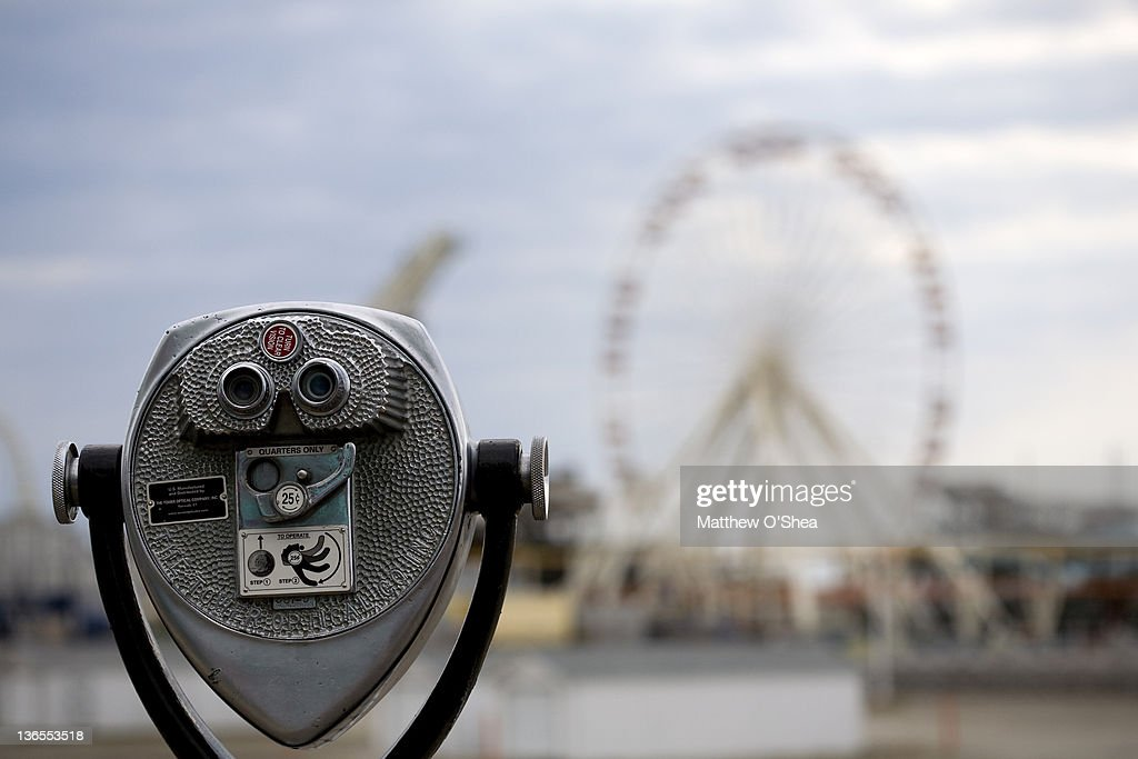 Viewer on the boardwalk : Stock Photo