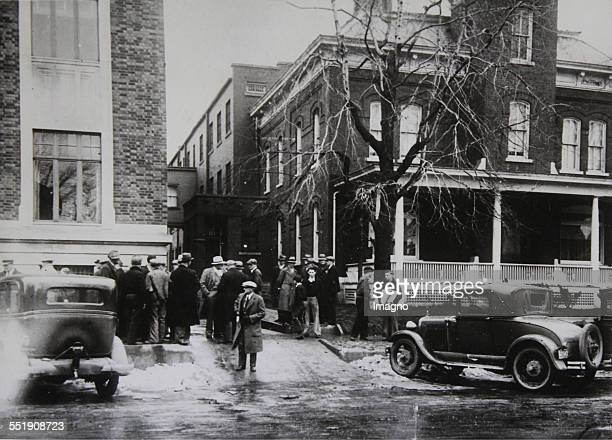 Viewers outside the prison from the John Herbert Dillinger escaped About 1933 Photograph