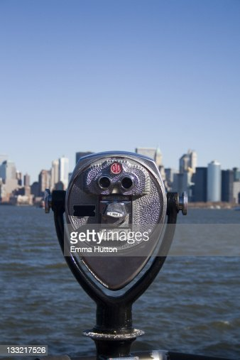 Viewfinder on  Liberty Island : Stock Photo