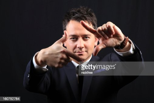 Viewfinder Pose : Stock Photo