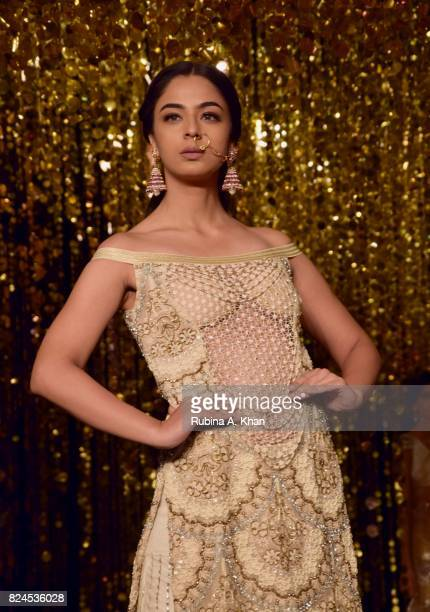 A viewing of Rina Dhaka's line during FDCI's India Couture Week 2017 at the Taj Palace hotel on July 30 2017 in New Delhi India