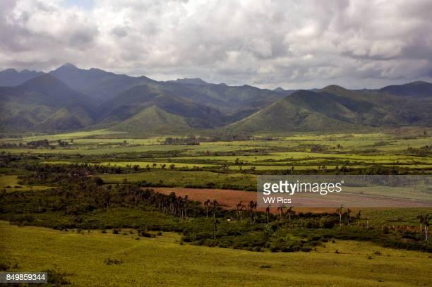 Viewpoint at the viewpoint overlooking Valle de los Ingenios a former sugar producing area near Trinidad Cuba