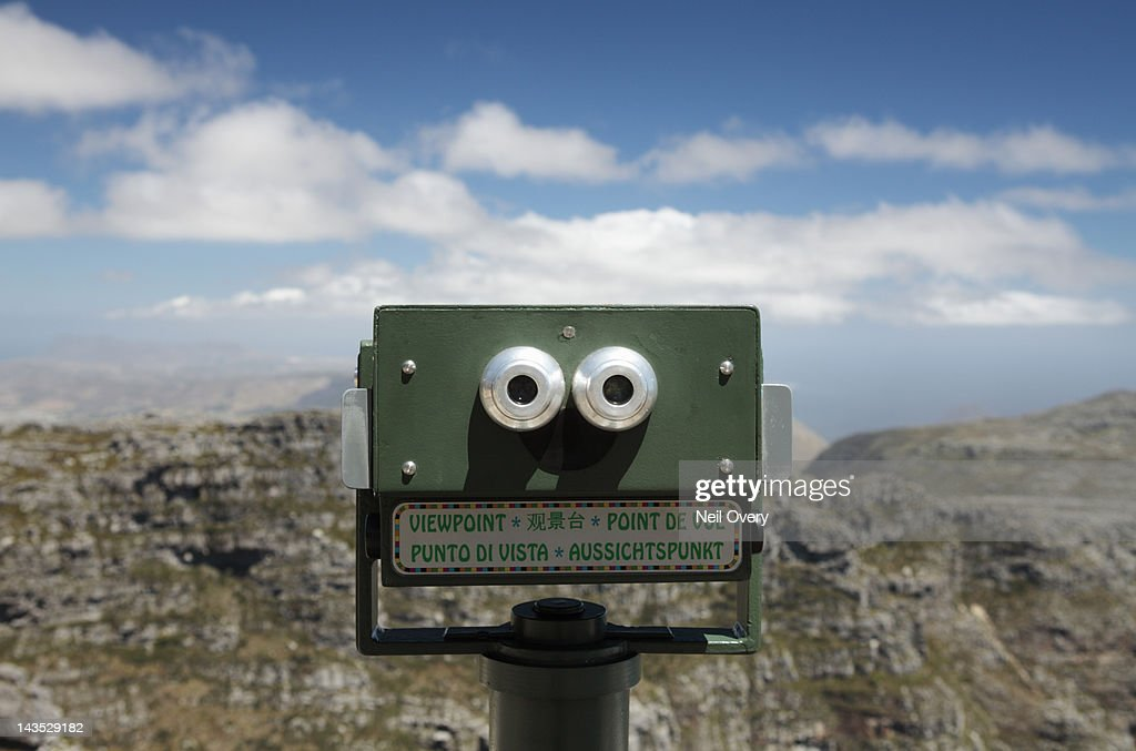 Viewpoint Telescope, Table Mountain, South Africa : Stock Photo
